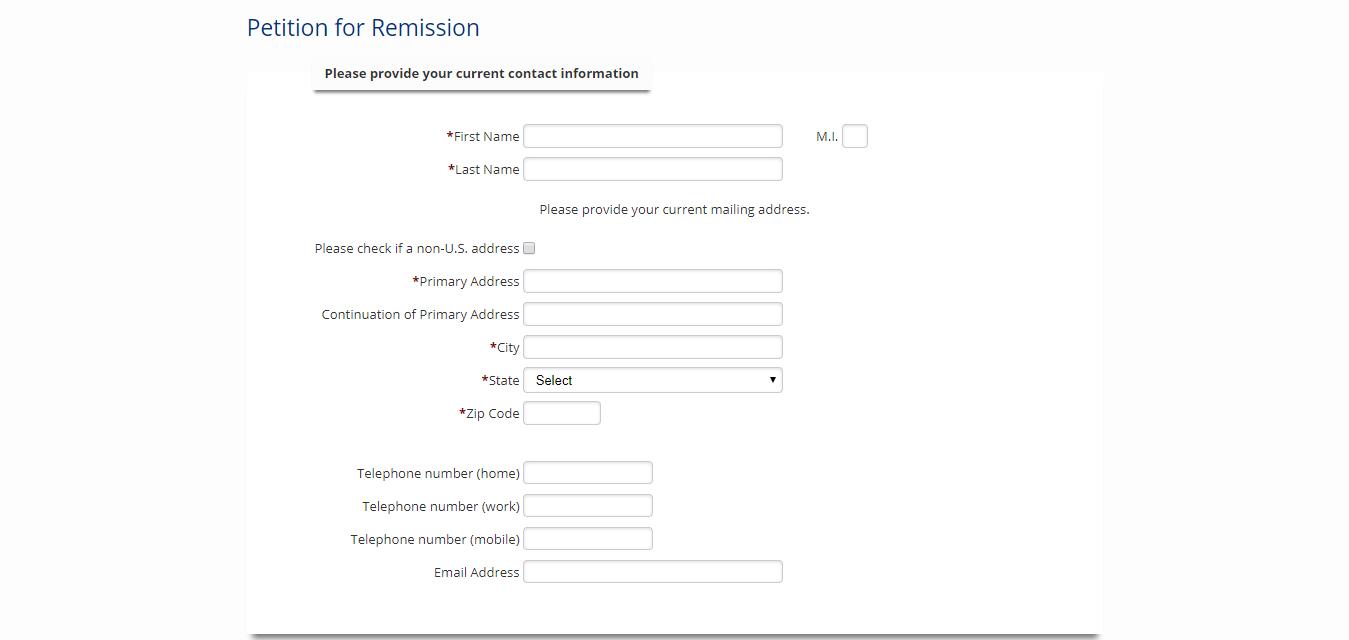 Remission Form