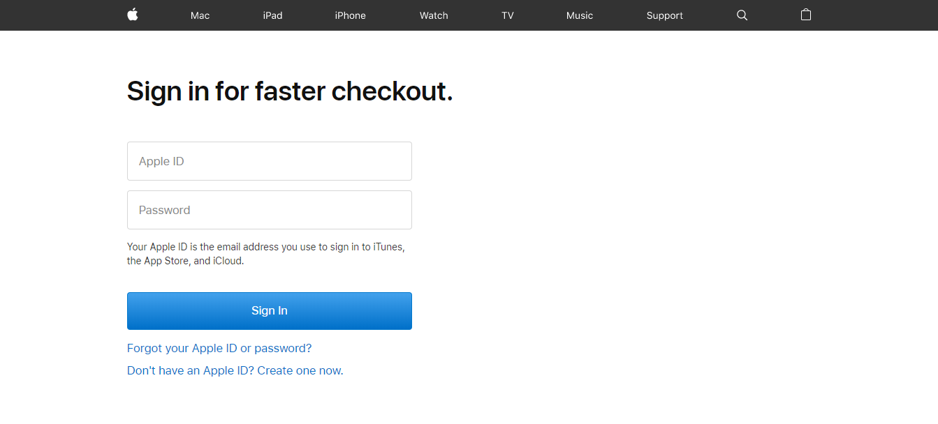 Sign In — Secure Checkout Apple