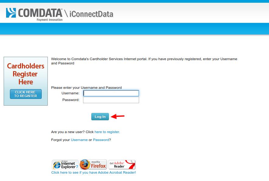 Comdata Cardholder Service Login