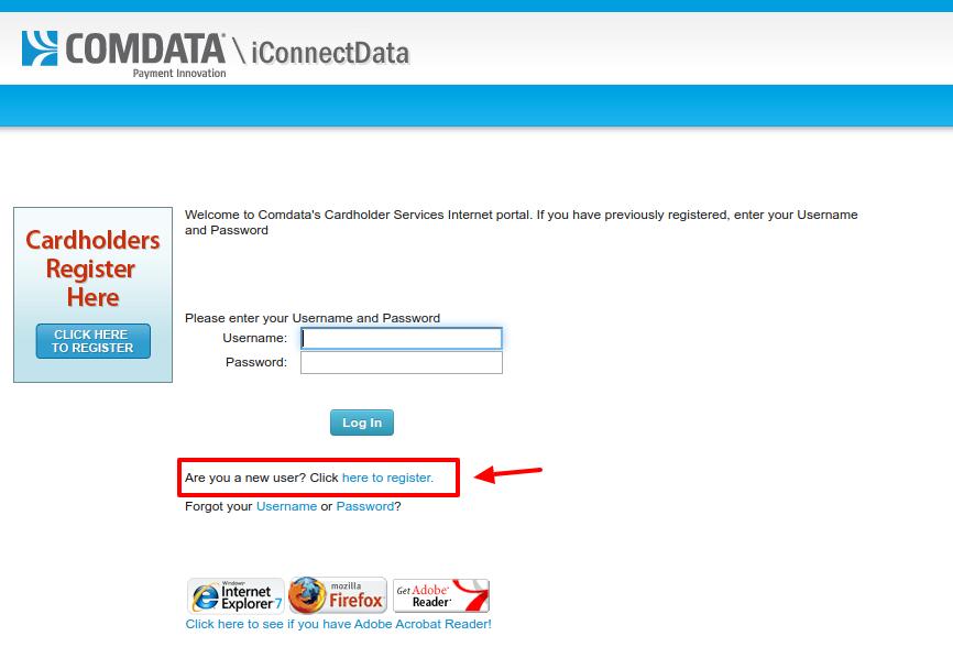Comdata Cardholder Services Register