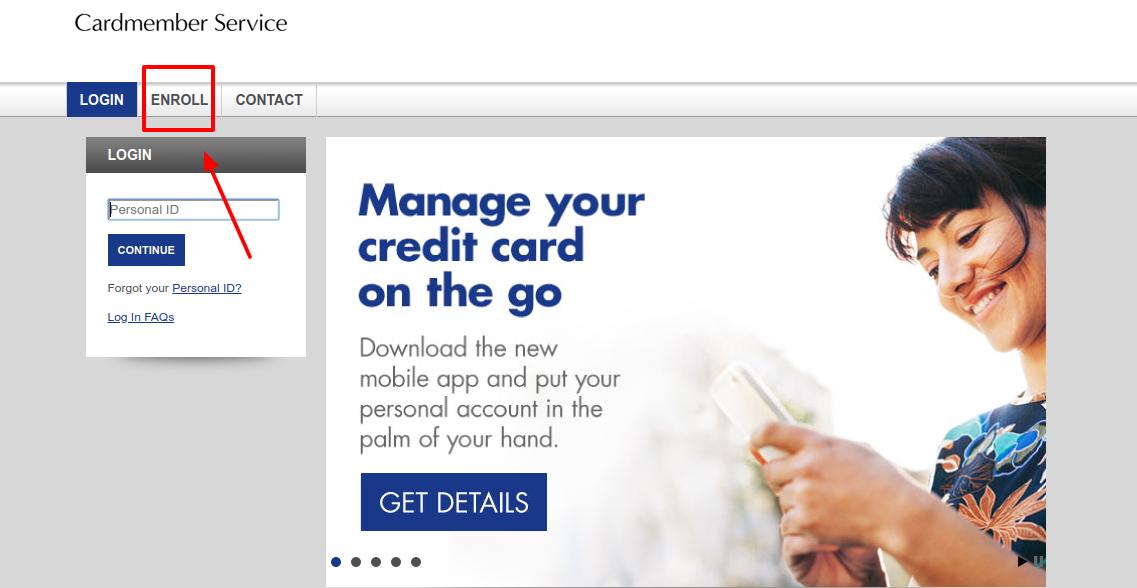 Credit Card Account Access Enroll