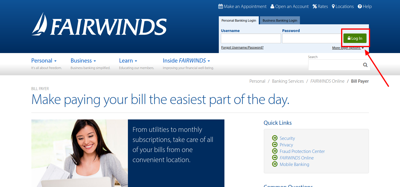 FAIRWINDS Credit Union Bill Pay