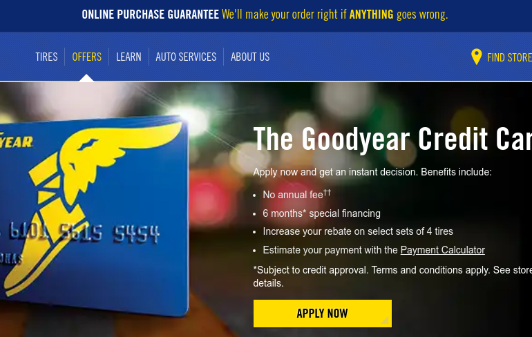 Goodyear Credit Card Logo