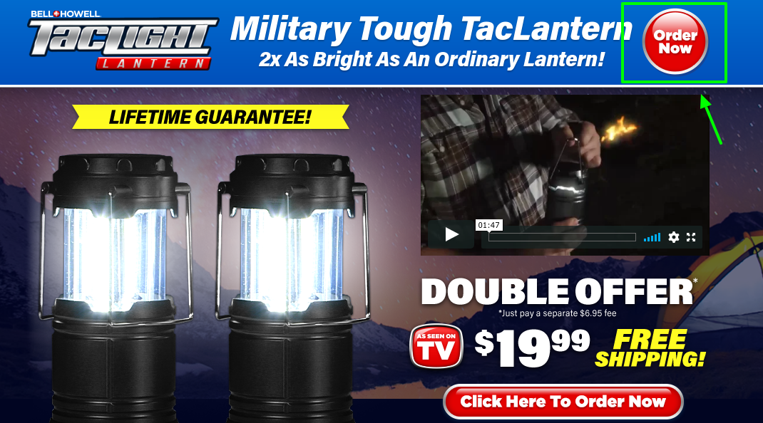 Military Touch LED Tactical Lantern Order