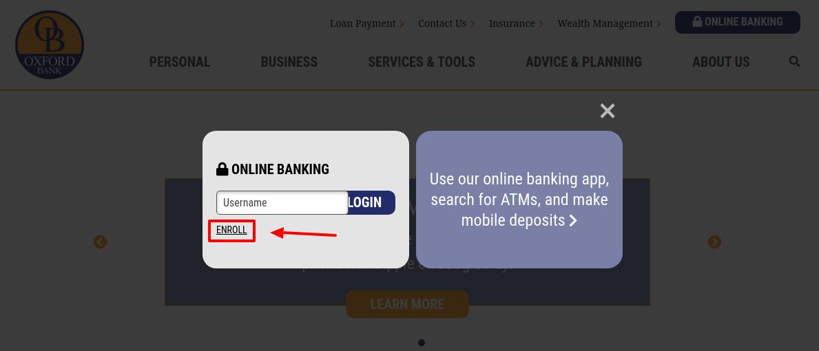 Oxford Bank Enroll