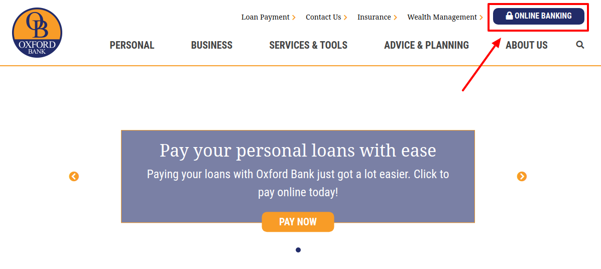 Oxford Bank Online Banking