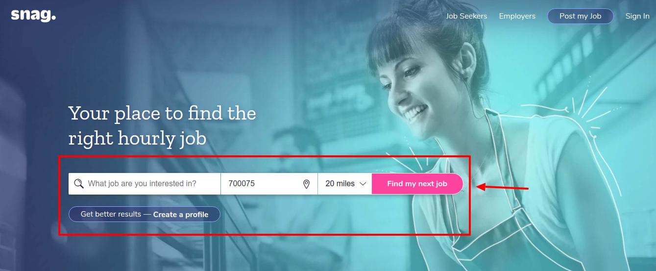 Snag job search