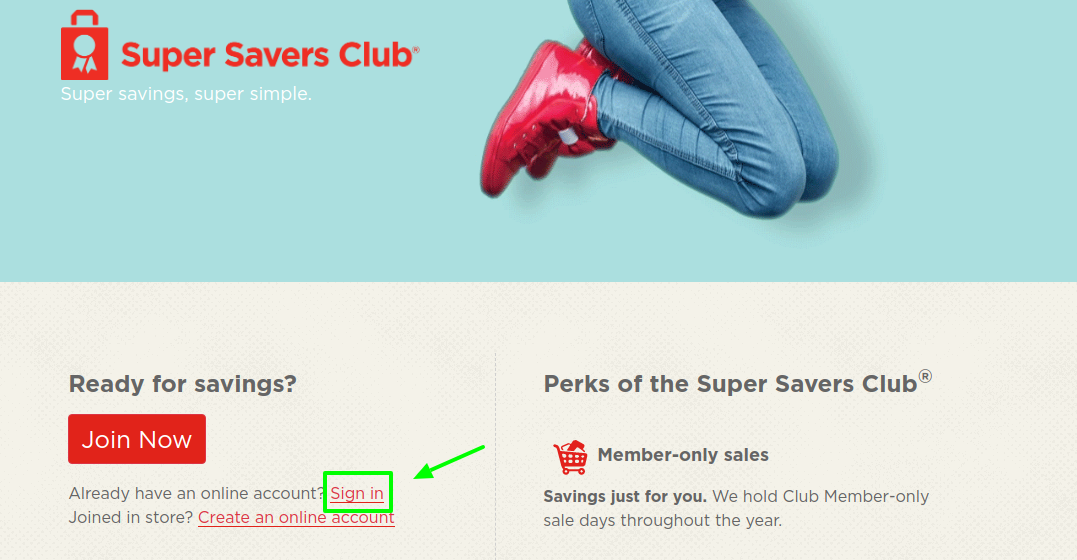 Super Savers Club Sign In