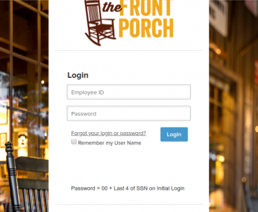 The Front Porch Login