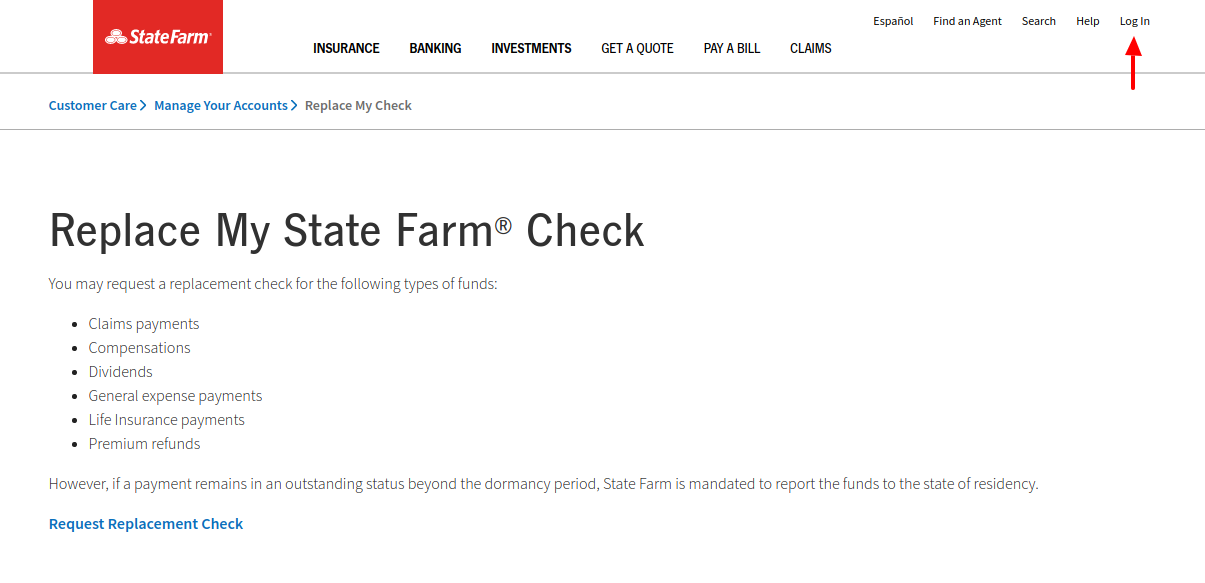 Replace My Check State Farm Login