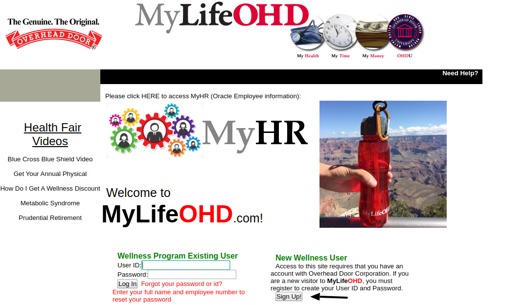 MyLifeOHD Sign Up