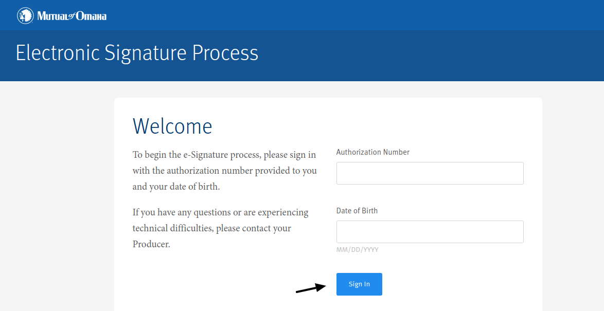 e-Signature Login