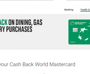 Credit Cards Cash Back World MasterCard Bank of the West