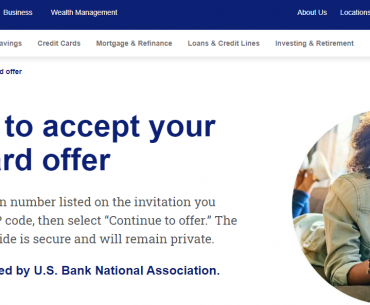 Retrieve my credit card U S Bank Logo