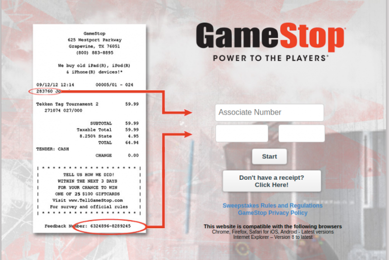 GameStop Customer Experience Survey