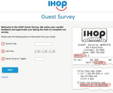 IHOP Guest Survey
