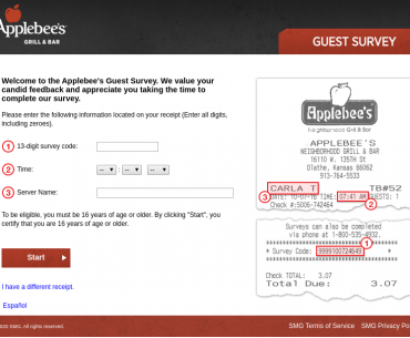 Applebees Survey