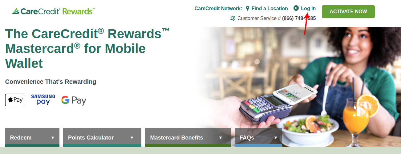 CareCredit Rewards Card Login