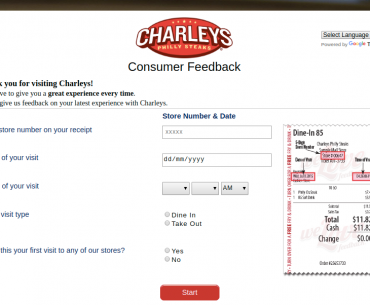 Charleys Philly Steaks Survey