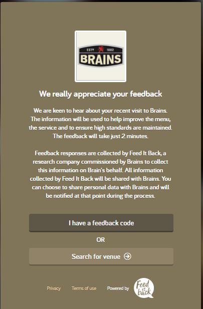 Brains feedback survey