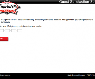 Capriotti Guest Survey