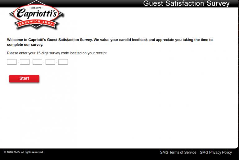 Capriotti Guest Survey