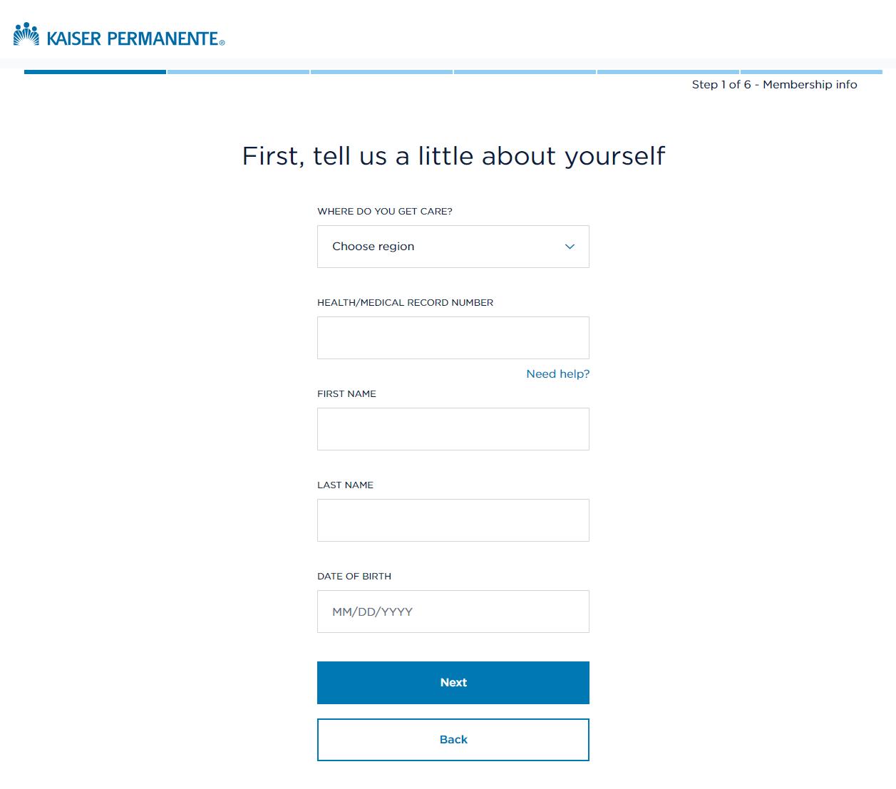 Kaiser Permanente Registration