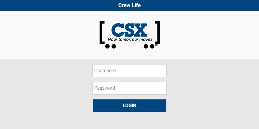 Login CSX crew life Account