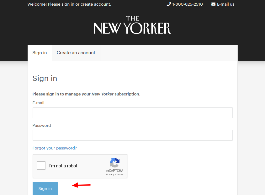 New Yorker magazin Login
