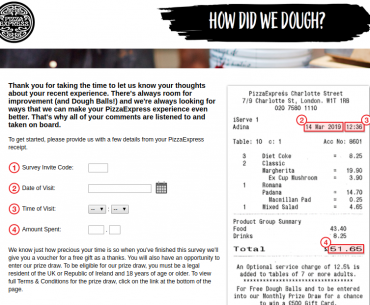 PizzaExpress Survey