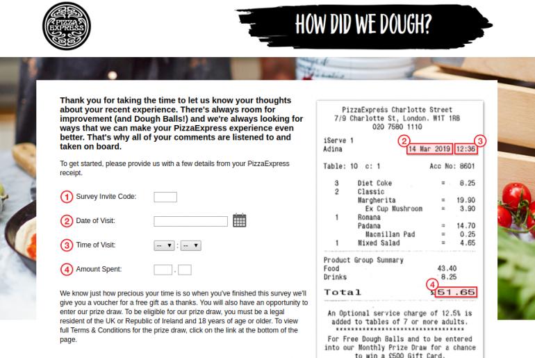 PizzaExpress Survey
