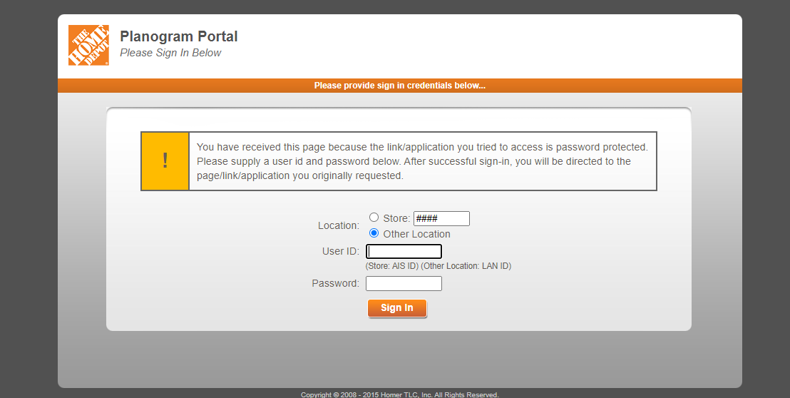 Homedepot planogram login