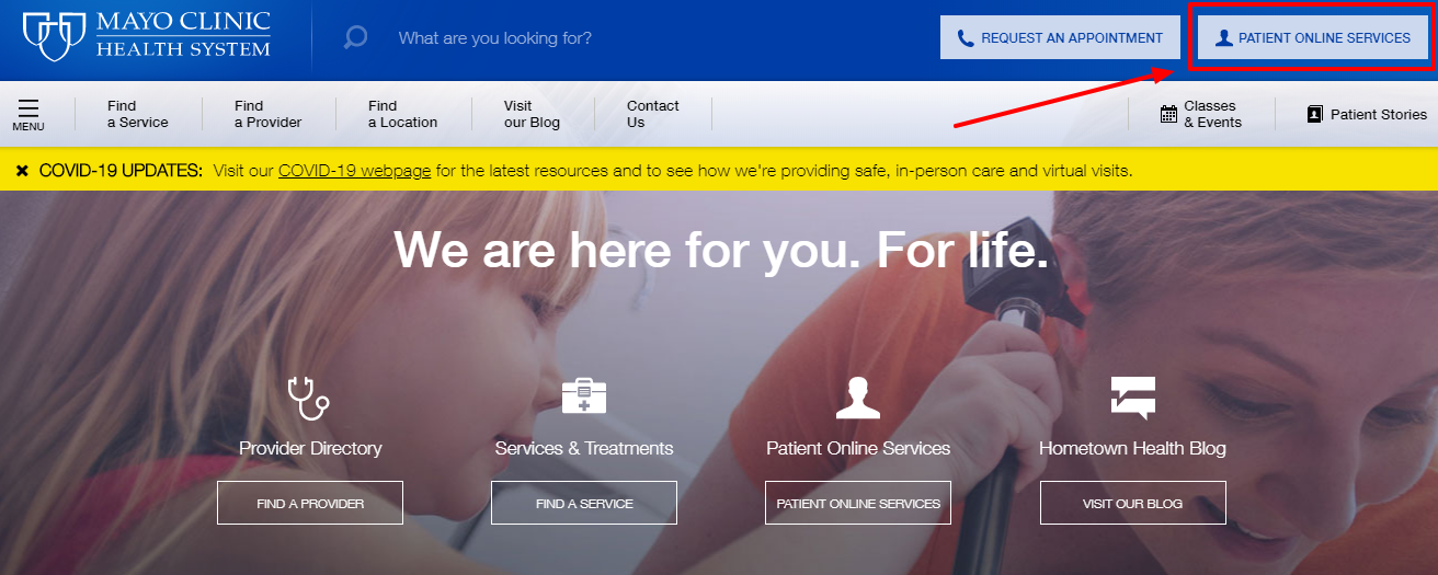 Login into the Mayo Clinic Patient Portal