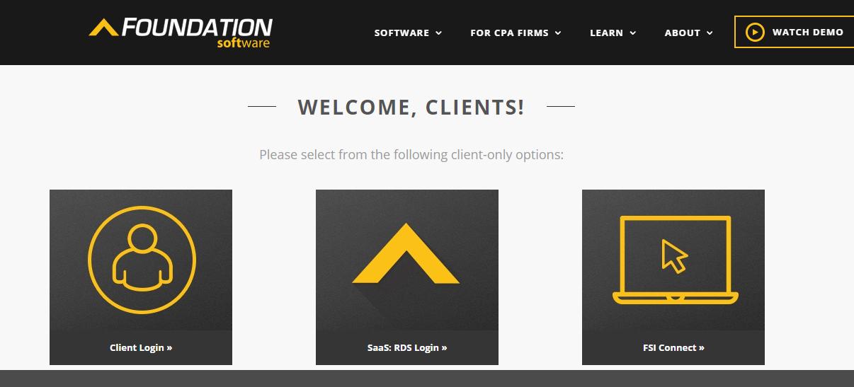 eFoundation Software Client Login