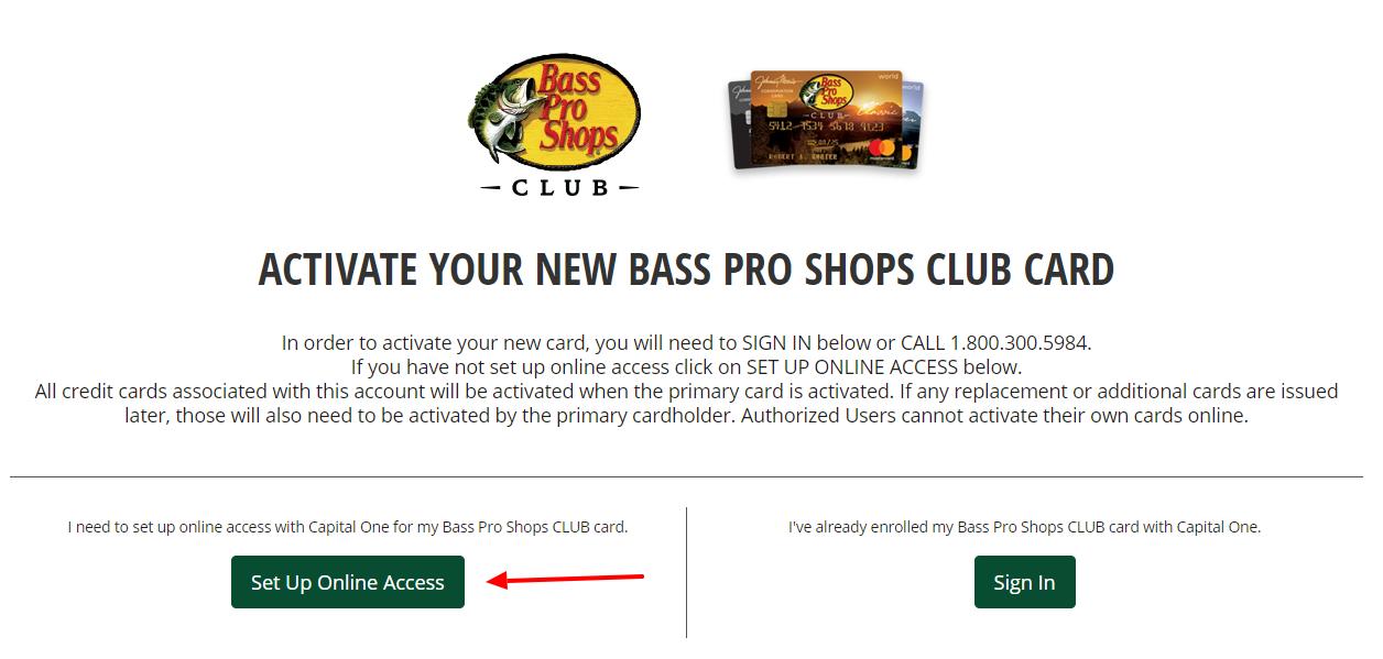 CLUB Credit Card Set Up