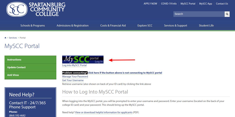 MySCC Portal Login