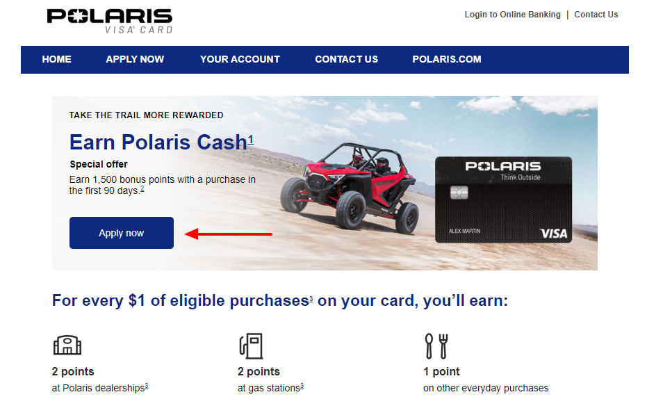 Polaris Visa Card Apply