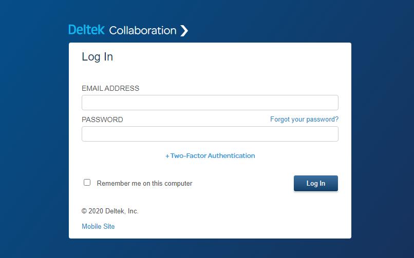 Deltek-Collaboration-Log-In