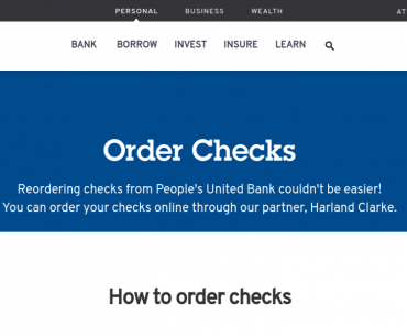 Order Check from People's United Bank Logo