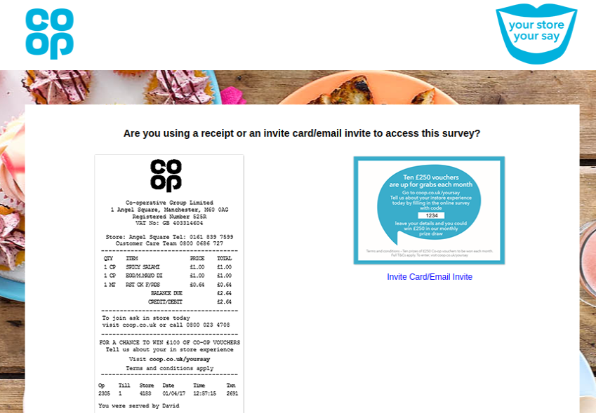 Coop Your Storee Survey