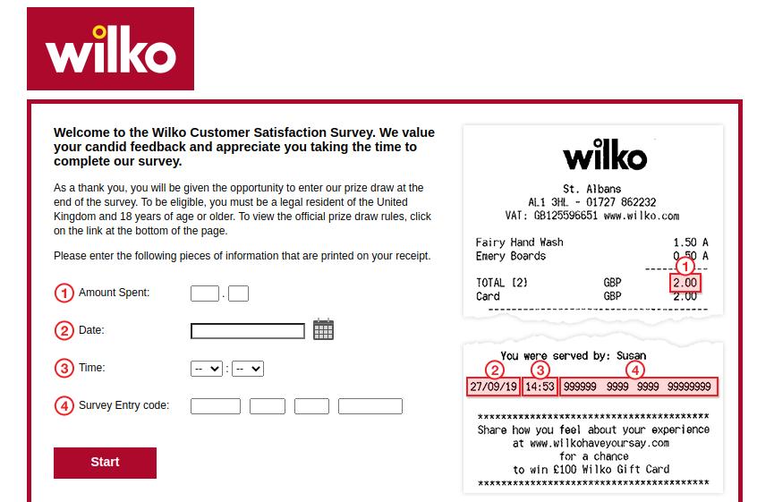 Wilko Customer Survey