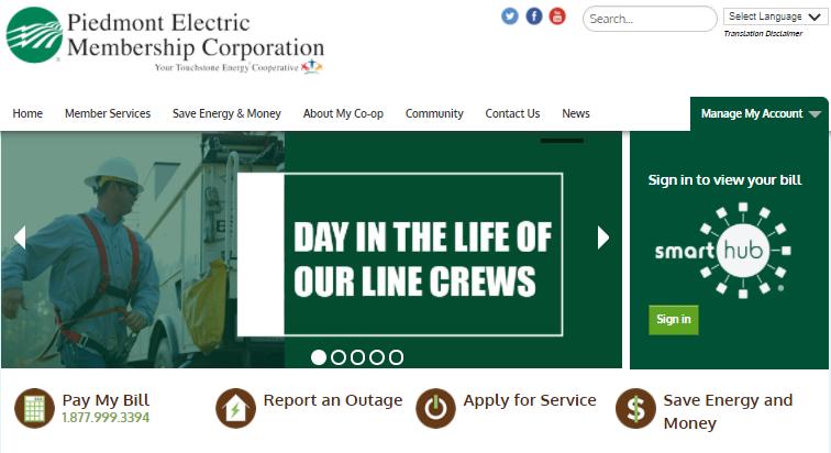 Piedmont Electric Login