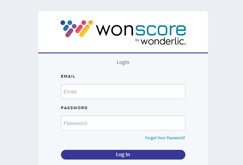 wonscore login
