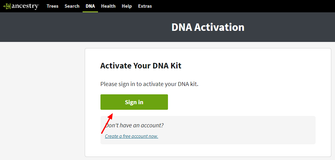 ancestry dna kit activate